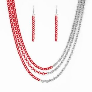 Red necklace/earring Paparazzi